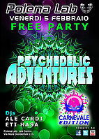 Party Flyer ★ PSY ADVENTURES ★ FREE PARTY ★ CARNIVAL EDITION ★ 5 Feb '16, 23:30