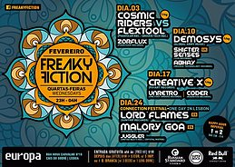 Party Flyer FREAKY FICTION 10 Feb '16, 23:00