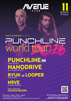 Party Flyer PUNCHLINE WORLD TOUR - COIMBRA 11. Feb. 16, 23:30