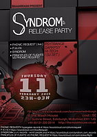 Party Flyer SYNDRON ep release party 11 Feb '16, 23:00