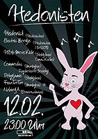 Party Flyer Hedonisten 12 Feb '16, 23:00