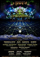 Party Flyer PSYBOX - 6 YEARS ANNIVERSARY 12 Feb '16, 22:00