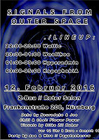 Party Flyer Signals from outer Space 12 Feb '16, 22:00