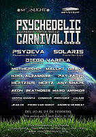 Party Flyer Psychedelic Carnival 3 - psychedelic trance festival 20 Feb '16, 12:00