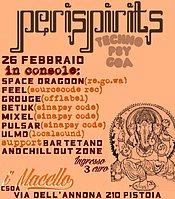 Party Flyer PERISPIRITS 26 Feb '16, 22:00