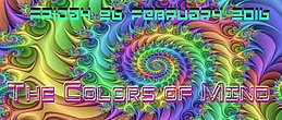 Party Flyer * The Colors of Mind * 26 Feb '16, 23:00