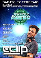 Party Flyer ★ Psy Adventures pres. E-CLIP (Iono Music - Serbia) ★ 27. Feb. 16, 23:00