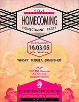 Party Flyer Homecoming 5 Mar '16, 21:00