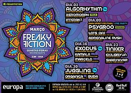 Party Flyer FREAKY FICTION - OWN SPIRIT FESTIVAL PRE PARTY 9 Mar '16, 23:00