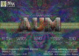Party Flyer ►☯ AUM vol.3 ☯◄ - One night of Goa PsyTrance music & culture - Modena 11 Mar '16, 22:00