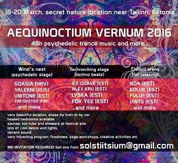 Party Flyer AEQUINOCTIUM VERNUM 2016 18 Mar '16, 18:00