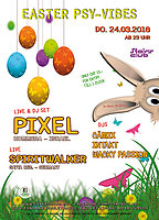 Party Flyer Easter PSY-Vibes with PIXEL live 24 Mar '16, 23:00