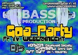 Party Flyer BASSPRODUCTION Goa Party @ Weberknecht 1 Apr '16, 22:00
