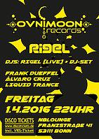 Party Flyer RIGEL [OVNIMOON Rec] (live) @ N8LOUNGE 1 Apr '16, 22:00