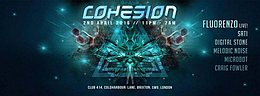Party Flyer Cohesion Psychedelic Trance Party - London 2 Apr '16, 23:00