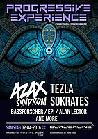Party Flyer Progressive Experience with AZAX SYNDROM / TEZLA / SOKRATES 2 Apr '16, 23:00