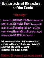 Party Flyer Solidarisch mit Menschen auf der Flucht 2 Apr '16, 22:00