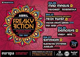 Party Flyer FREAKY FICTION 6 Apr '16, 23:00