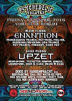 Party Flyer Enantion meets Upzet by Psychedelic Theatre 8 Apr '16, 23:00
