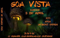 Party Flyer GOAVISTA PSYTRANCE GATHERING - CC BOAVISTA LOS CRISTIANOS 8 Apr '16, 23:30