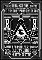 Party Flyer No-Sense-Of-Place-REC. feat. ELECTROBUGZ 8 Apr '16, 22:30