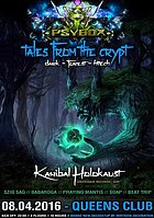 Party Flyer PSYBOX - *** TALES FROM THE CRYPT *** with KANIBAL HOLOKAUST *live* 8 Apr '16, 22:00
