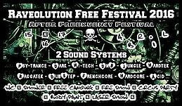 Party Flyer RAVEOLUTION (free festival) AFTER FREEKUENCY 15 Apr '16, 18:00