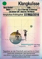 Party Flyer klangkulisse frühlingsfest 7 May '16, 12:00