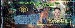 Party Flyer VISIONS OF PARADISE with ELECTRIC UNIVERSE - DRISS (Hadra) - ASKARI + many more 14 May '16, 22:00