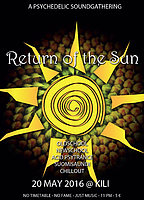 Party Flyer Return of the Sun | a Psychedelic Sound Gathering 20 May '16, 23:00