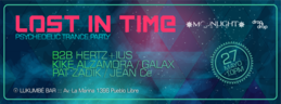 Party Flyer Lost in Time - psychedelic trance party 27 May '16, 22:00