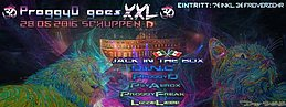 Party Flyer ૐ ProggyD goes XXL: Charity-GoaNight @ SoulWharf Schuppen D ૐ 28 May '16, 22:00
