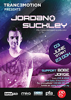 Party Flyer Tranc3motion pres. Jordan Suckley - Club Live & Loud / 3 JUNE 3 Jun '16, 23:00