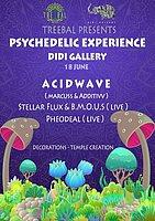 Party Flyer TREEBAL PRESENTS PSYCHEDELIC EXPERIENCE @ DIDI GALLERY 18 Jun '16, 23:00