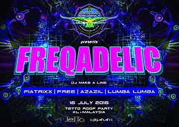 Party Flyer FREQADELIC 16 Jul '16, 20:30