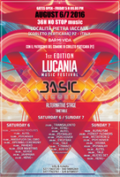 "Party Flyer ""Lucania Music Festival"" - 1st edition - Alternative Psytrance Stage 5 Aug '16, 21:00"