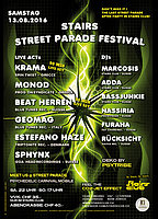 Party Flyer Stairs - Street Parade Festival - After Party 13 Aug '16, 22:00