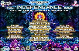 Party Flyer ★ POST INDEPENDENCE BASH ★ 16th 17th august Goa 16 Aug '16, 12:00