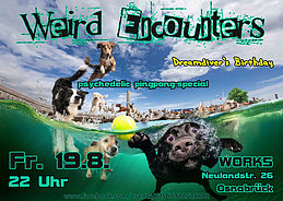 Party Flyer Weird Encounters (Dreamdiver`s birthday special) 19 Aug '16, 22:00