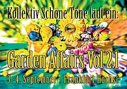 Party Flyer garden affairs 2.1 3 Sep '16, 22:00