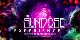 """Party Flyer SUNDOSE """"The next Experience"""" with MALICE IN WONDERLAND, NAIMA & many more 16 Sep '16, 16:00"""