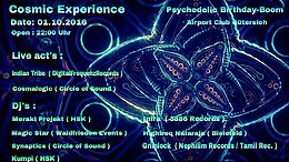 Party Flyer Cosmic Experiance 1 Oct '16, 23:00