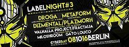 Party Flyer CyberBay Label NIght Berlin Vol.3 8 Oct '16, 23:30