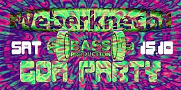 Party Flyer Bassproduction Goa Party 15 Oct '16, 22:00