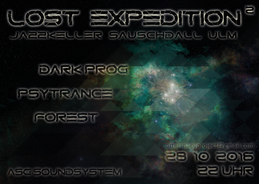 Party Flyer Lost Expedition² 28 Oct '16, 22:00