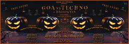 Party Flyer GOA vs TECHNO zu HALLOWEEN 31 Oct '16, 23:00
