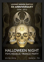 Party Flyer HALLOWEEN NIGHT - 12 years of Looney Moon Parties 31 Oct '16, 22:00