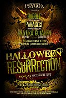 Party Flyer Psybox - *** Halloween Resurrection *** with BUBBLE // PARASECT // GOTALIEN //.. 31 Oct '16, 22:00