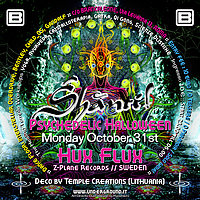 Party Flyer Shanti :: Psychedelic Halloween :: Hux Flux (Z-Plane Records) 31 Oct '16, 22:00