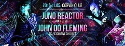 Party Flyer Juno Reactor & John 00 Fleming & Power Source in Budapest 5 Nov '16, 22:00